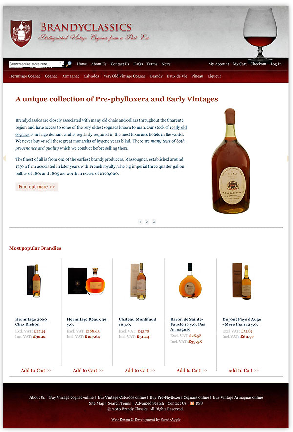 Brandyclassics - buy vintage cognac online