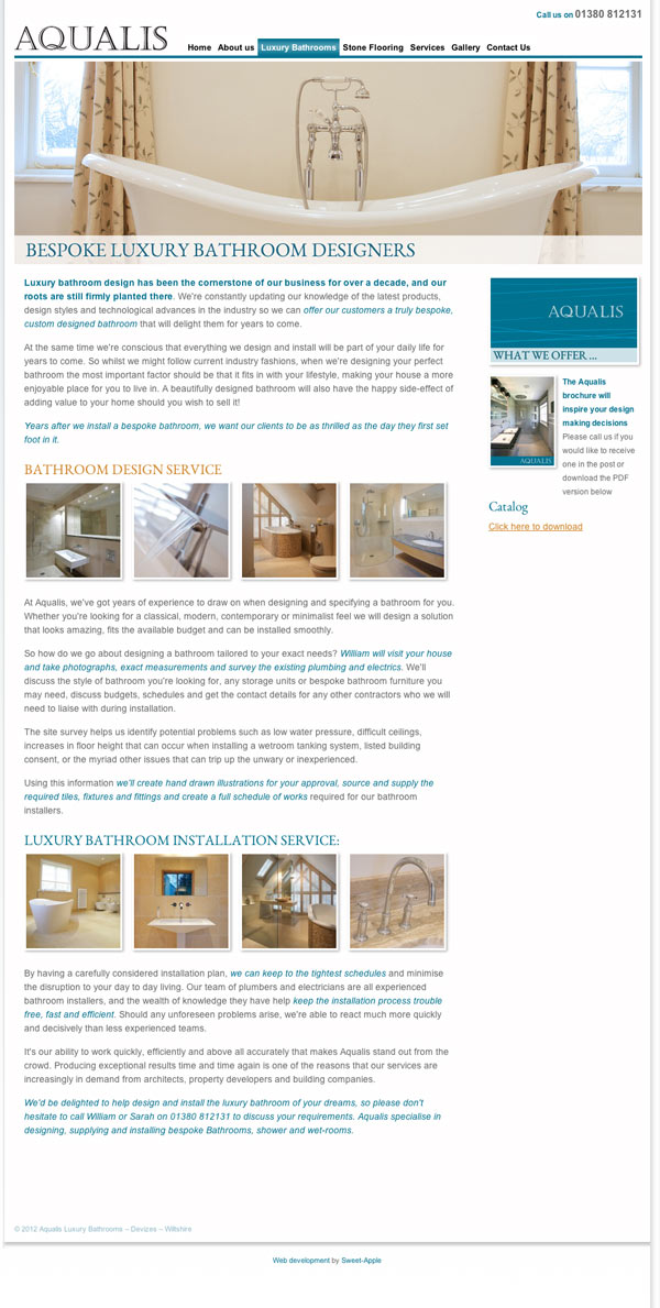 Designers of luxury bathrooms, wetrooms and stone floors, Devizes, Wiltshire